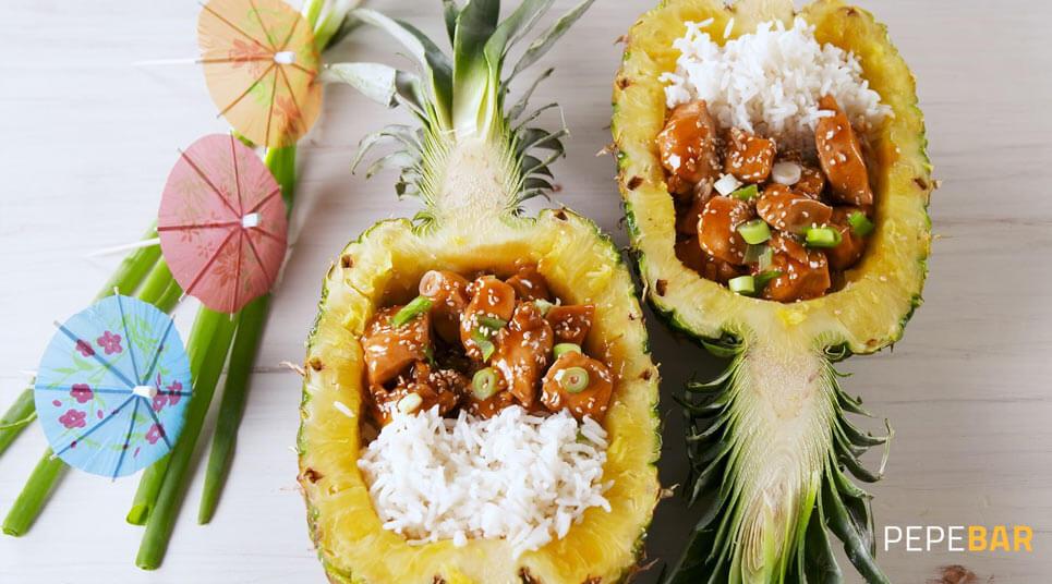 receta piña teriyaky
