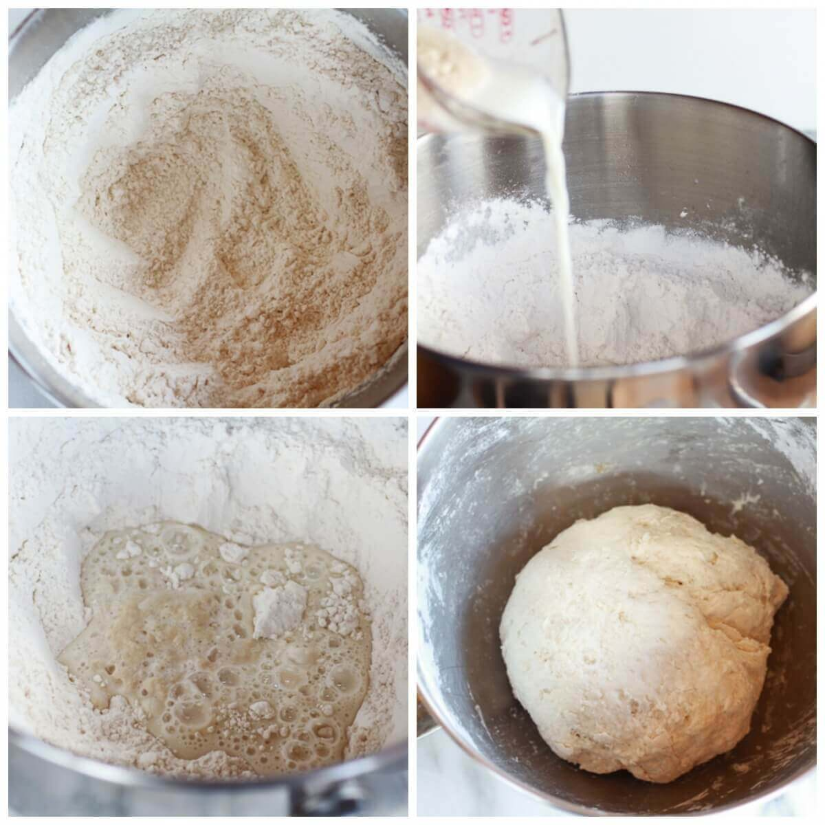 Mix homemade bread