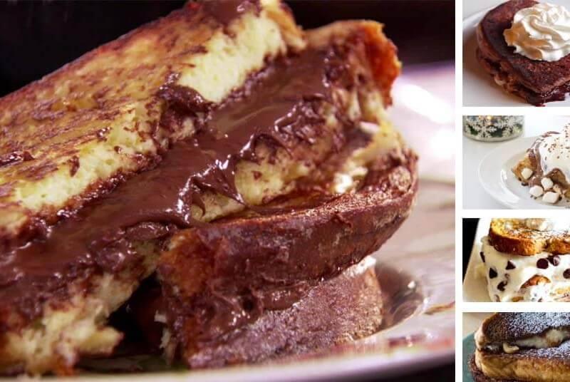 receta tostada dulce de chocolate