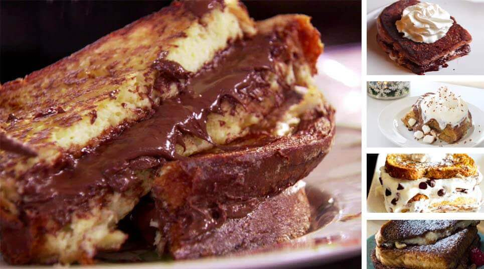 receta tostadas dulces chocolate