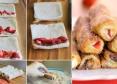 rollitos dulces de canela y fresas