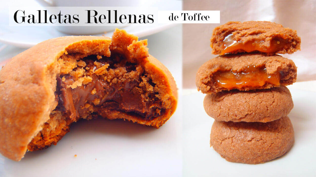 receta galletas rellenas toffe