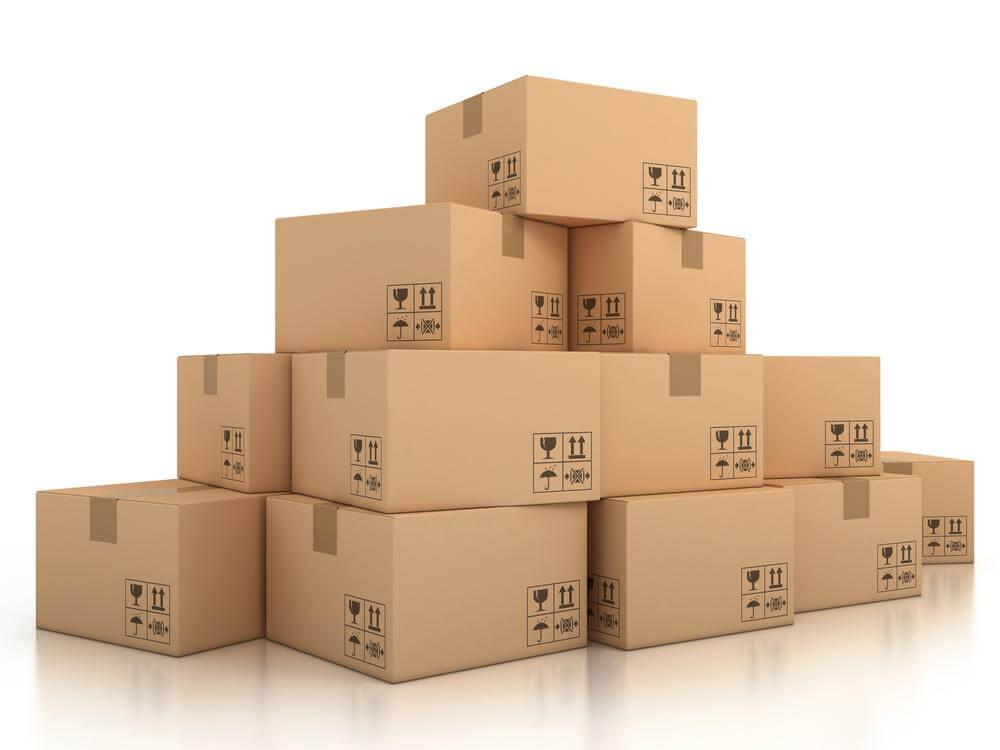 caja de cartón