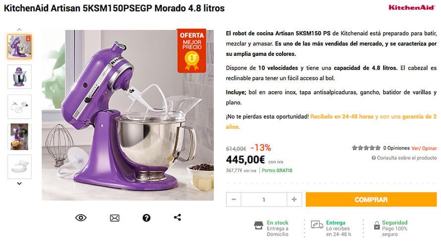 amasadora kitchenaid