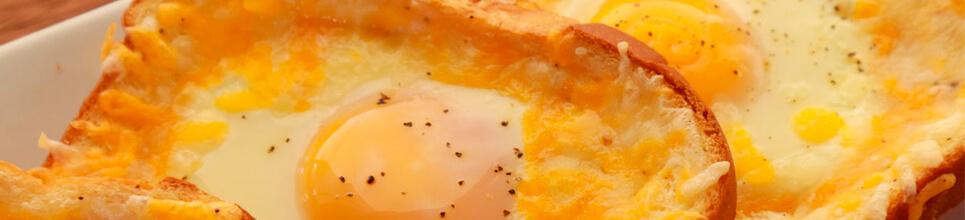 Tostada francesa con huevo y queso