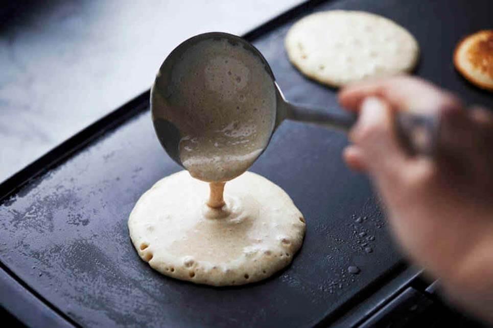 Preparación de la masa de tortitas