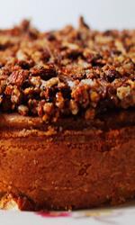 Crocante de almendras en tarta