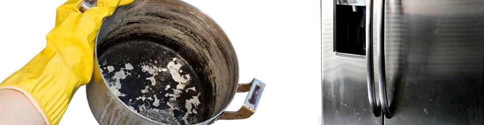 Limpiar acero inoxidable con manchas más complicadas