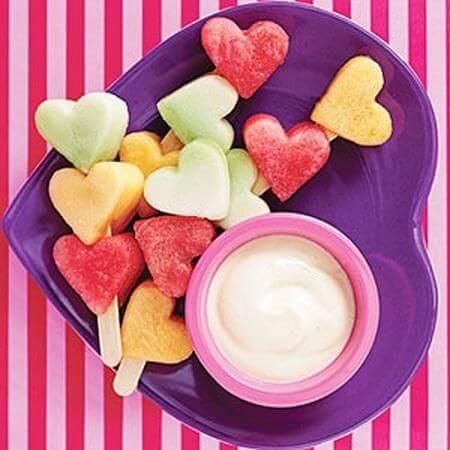 frutas menu san valentin recetas
