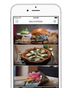 Aplicaciones para restaurantes; Deliveroo