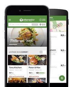 Aplicaciones para restaurantes; ElTenedor