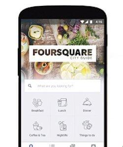 Aplicaciones para restaurantes; Forsquare
