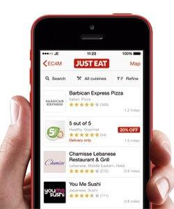 Aplicaciones para restaurantes; JustEat