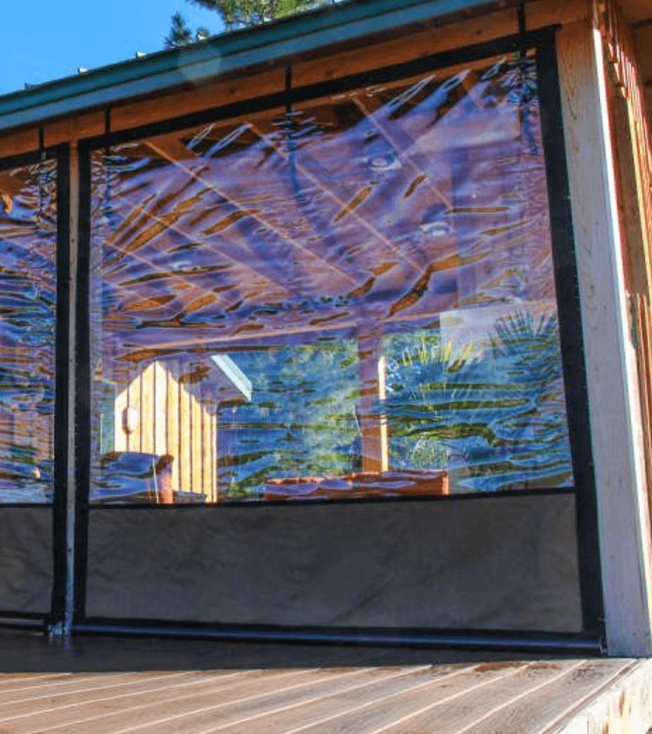 Vinilo transparente para terraza