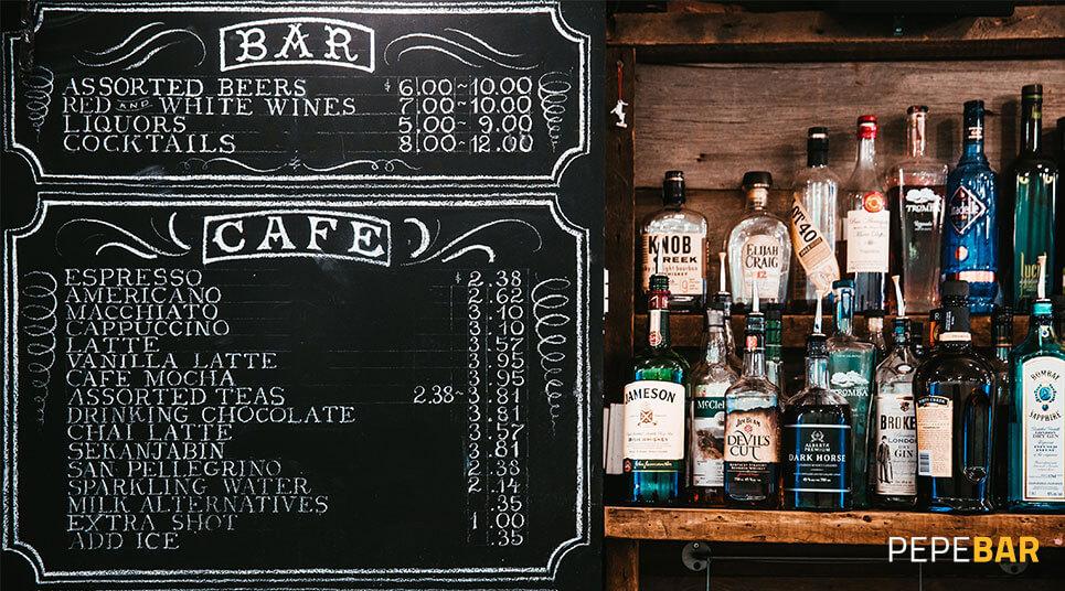 Pizarra Bar: conoce cuántos tipos hay y sácales todo el partido