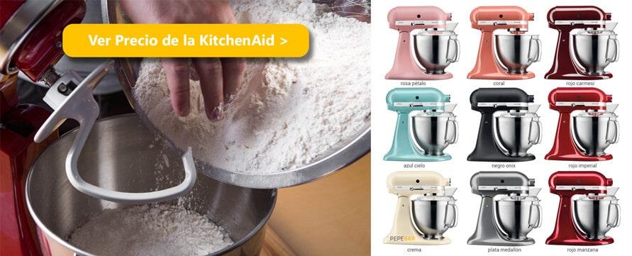 como hacer pan caero amasadora kitchenaid