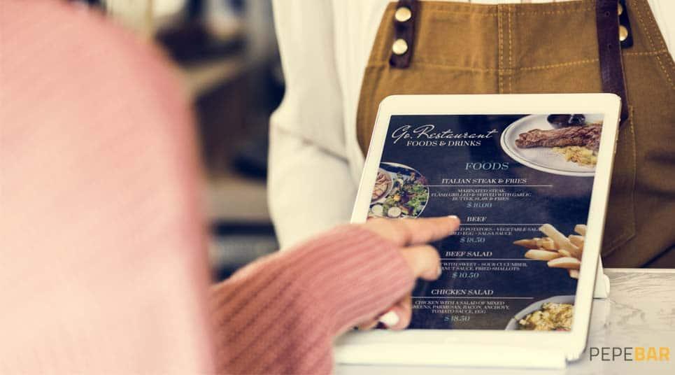 carta digital para restaurantes