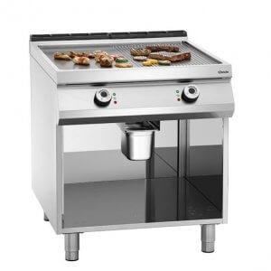 fry top electrico de acero lisa y acanalada con patas bartscher 296511