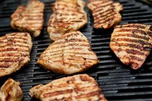 grilled turkey meat steak turkey grill on on huge N56PL8H